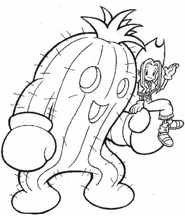 Digimon Tegninger til Farvelægning. Printbare Farvelægning for børn. Tegninger til udskriv og farve nº 24
