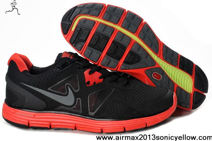 Sale Cheap Nike Lunarglide 2 Black Red Womens 454315-008 Fashion Shoes Store