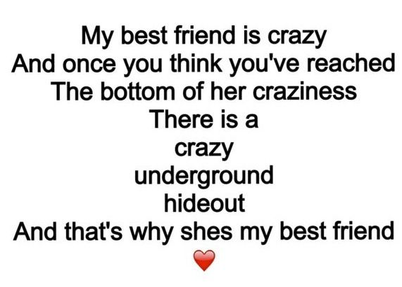 That's why she's my bestie