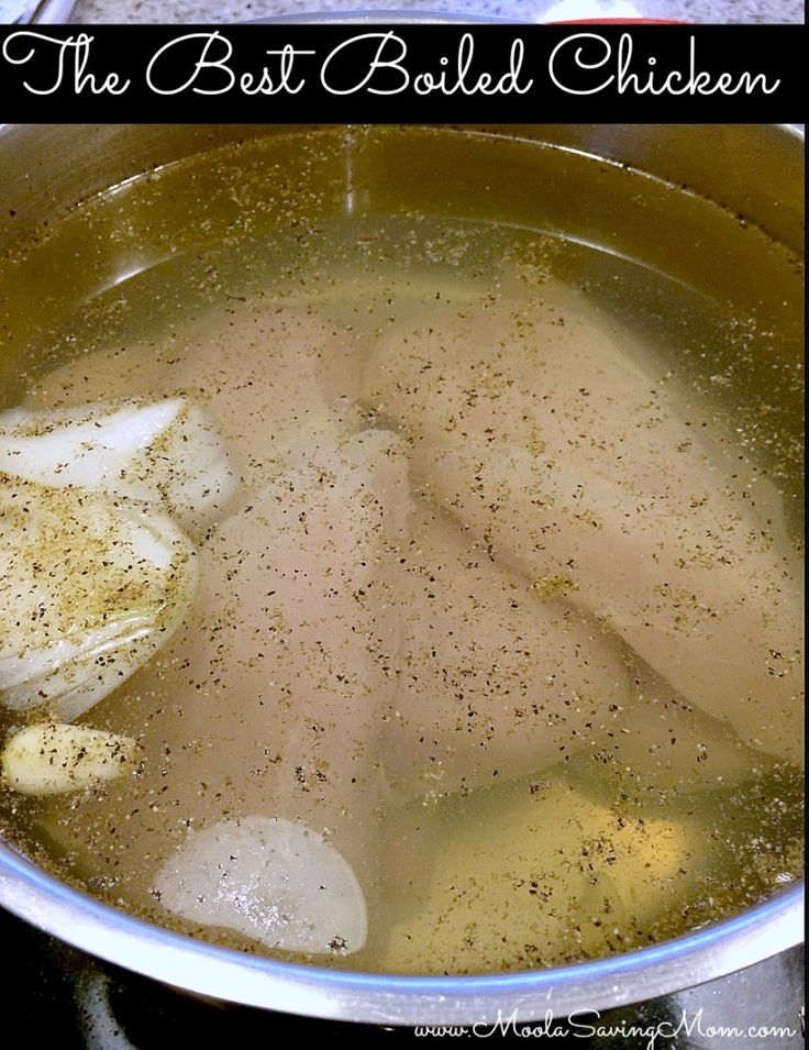 Best Boiled Chicken Ever - use it for so many recipes!