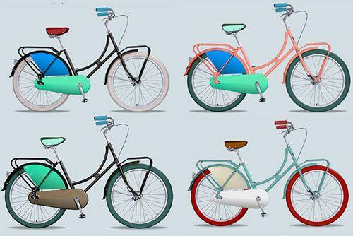 Dutch Bikes.....Republic Bikes had a fun site that allows you to design your own Dutch bike, choosing from a wide range of colors!