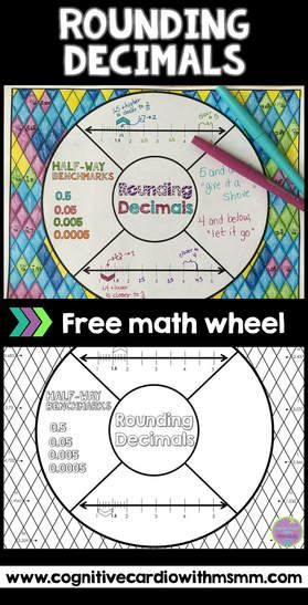 Try this free Rounding Decimals Math Wheel for note-taking and practice! Great to add to your interactive notebooks!