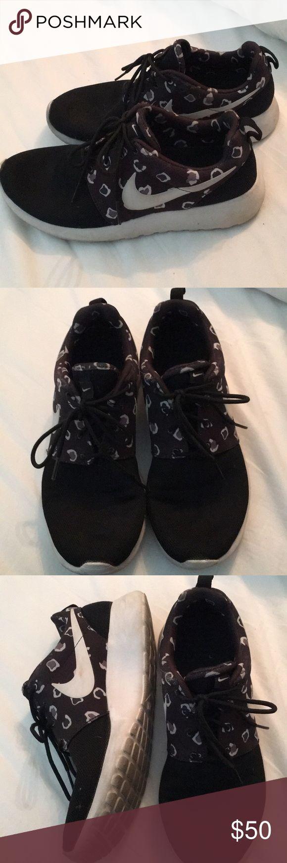 Nike roshe run leopard print Nike roshe run leopard print in black. No box. Nike Shoes Athletic Shoes