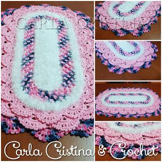 Carla Cristina & Crochet: Tapete Oval Rendado 2                                                                                                                                                     Mais