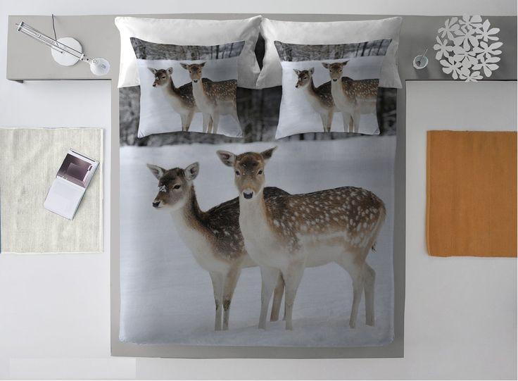 Komplet pościeli Winter Deer #zima #winter #interior #dom #home #wnetrze #dekoracje #decoration
