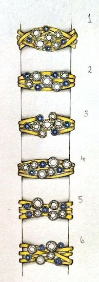 Designs for a sapphire and diamond raindance style ring for one of our…
