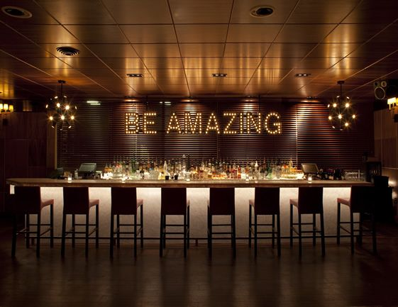 Be Amazing ~ Chambers Eat and Drink, San Francisco, via @we_heart #interiordesign #glamour