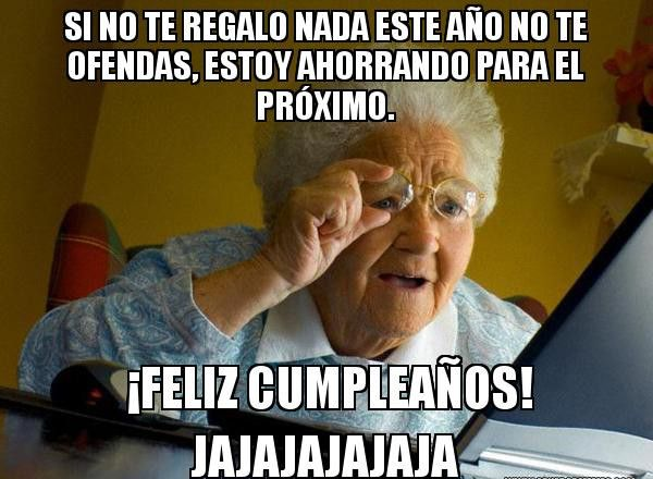 meme de feliz cumpleaños abuela
