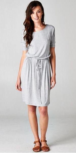 Boyfriend Midi Dress - Heather Grey