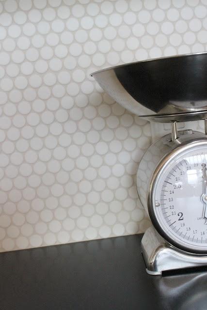 penny round backsplash tile Kitchen