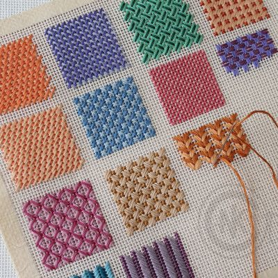 Needlepoint Stitches_how to