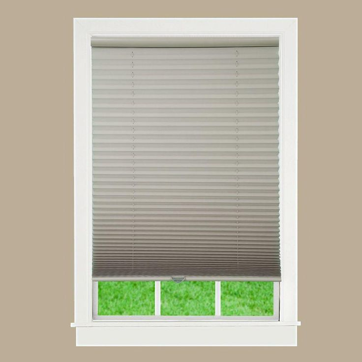 Perfect Lift Window Treatment Camel 1 in. Light Filtering Cordless Pleated Shade - 23 in. W x 64 in. L (Actual Size: 23 in. W x 64 in. L )-QDCM230640 - The Home Depot