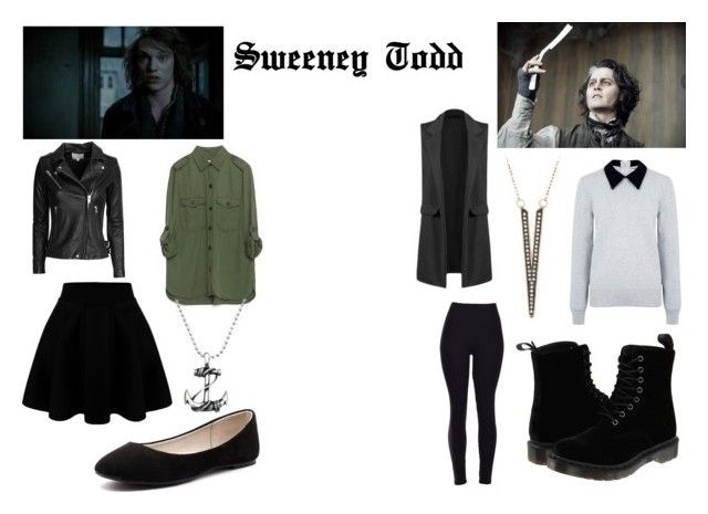 """sweeney todd 2"" by mary-minge on Polyvore featuring Fleet Street, Edit, Dr. Martens, Zara, IRO, Verali, women's clothing, women, female and woman"