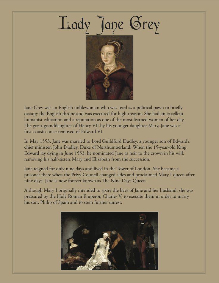Lady Jane Grey | Tudors 1485-1603 | Pinterest | Lady Jane ...