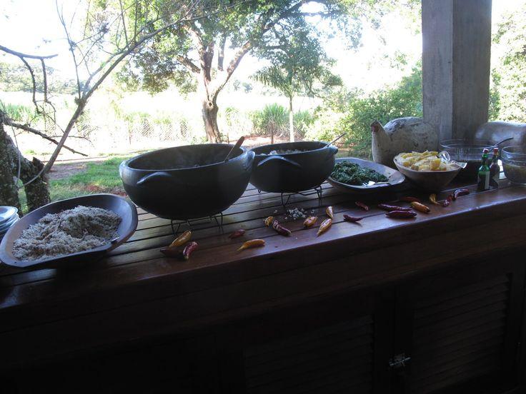 Almoço na fazenda