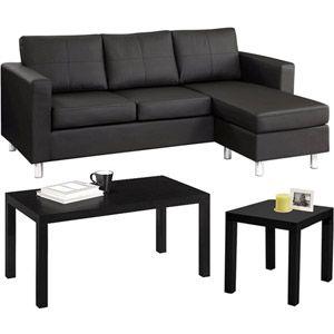 Small Spaces Living Room Value Bundle. Grey Microfiber $359