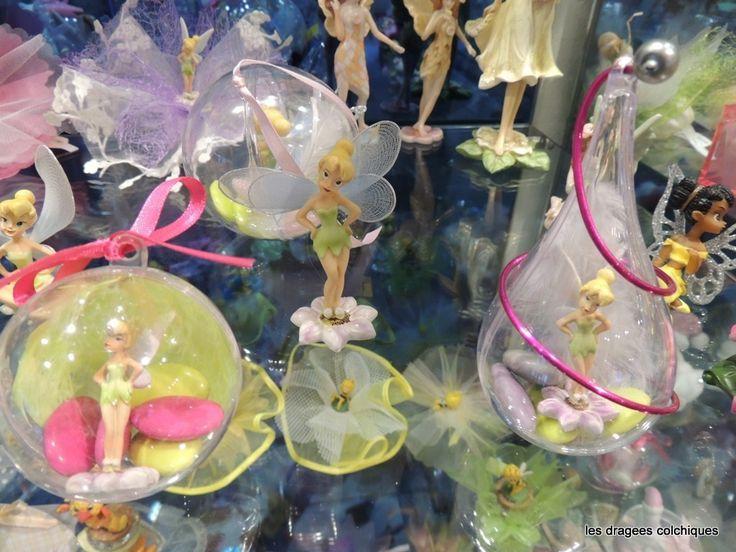 emballage avec dragee bapteme Theme disney fée clochette Contenants et Dragées Vente de faire-part originaux en ligne - Les Dragées Colchiques