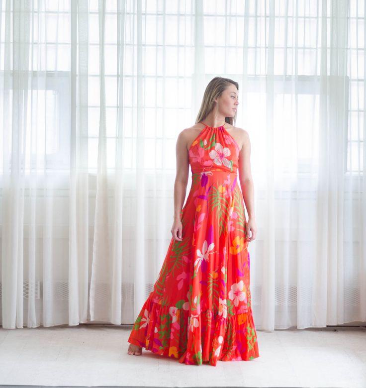Vintage 1970s Maxi Dress - 70s Floral Festival Dress - Maui Maui Dress by concettascloset on Etsy https://www.etsy.com/listing/275428682/vintage-1970s-maxi-dress-70s-floral