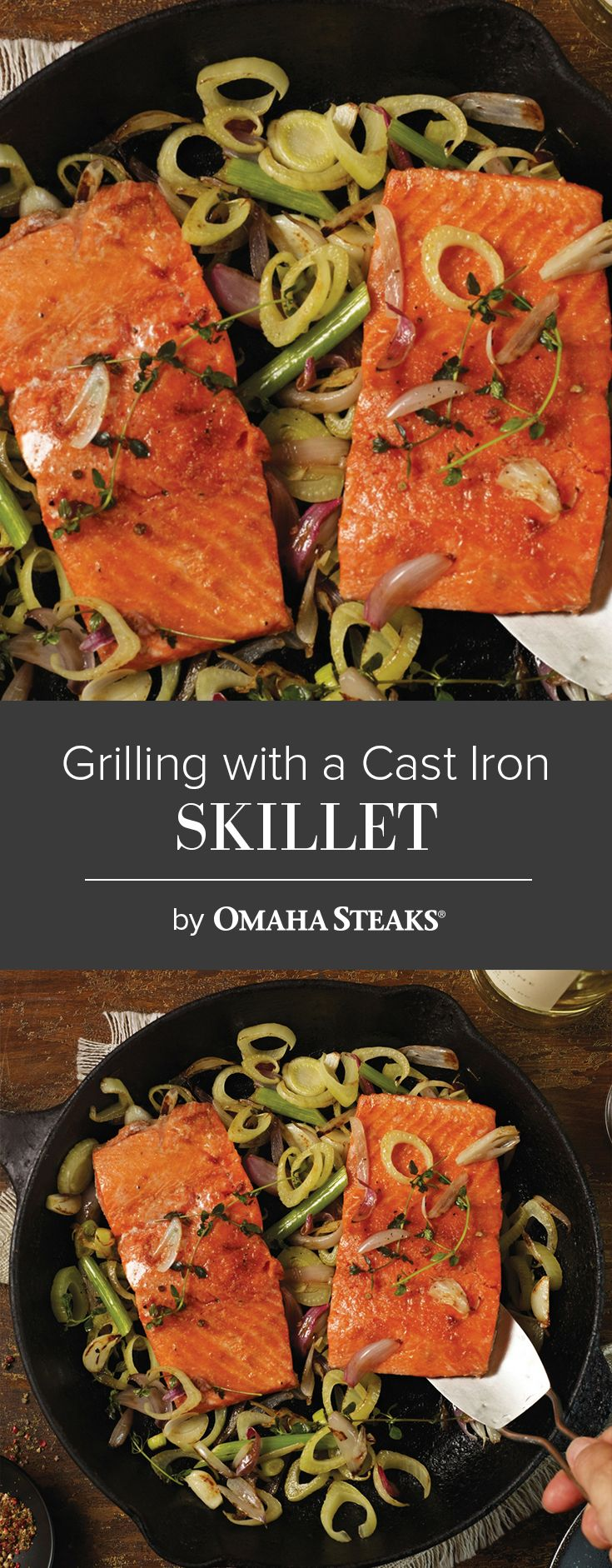 Grilling With a Cast Iron Skillet