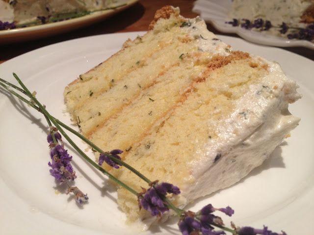 shantilly picnic: Lavender Lemon Verbena Cake