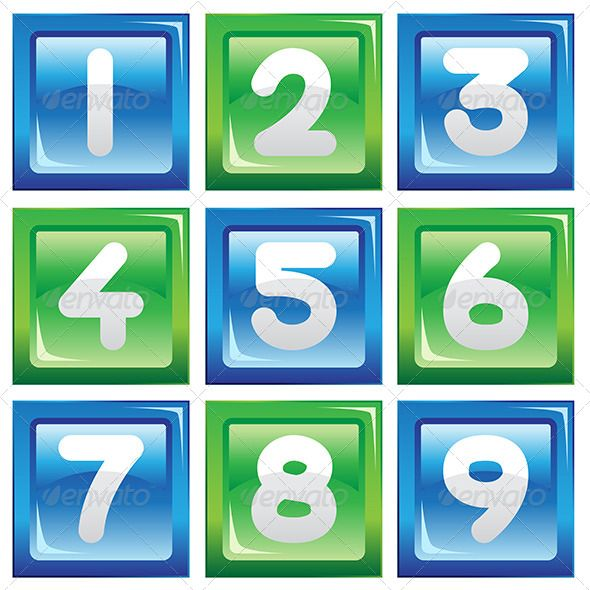 Numbers Icon Set
