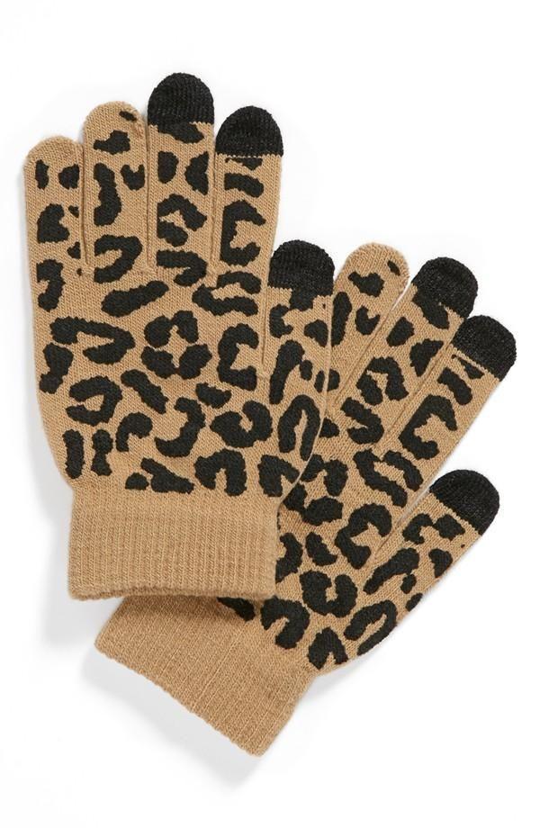 Lulu Animal Print Tech Gloves