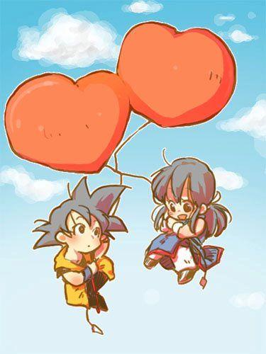DBZ Goku and Chi-Chi! ♥ #DragonBall