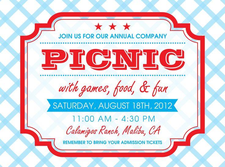 12 best Company picnic images on Pinterest Company picnic