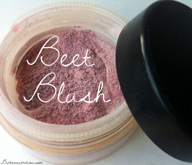 Easy & edible beet blush!