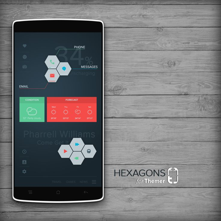 Hexagons Android Homescreen By Peszek   MyColorscreen