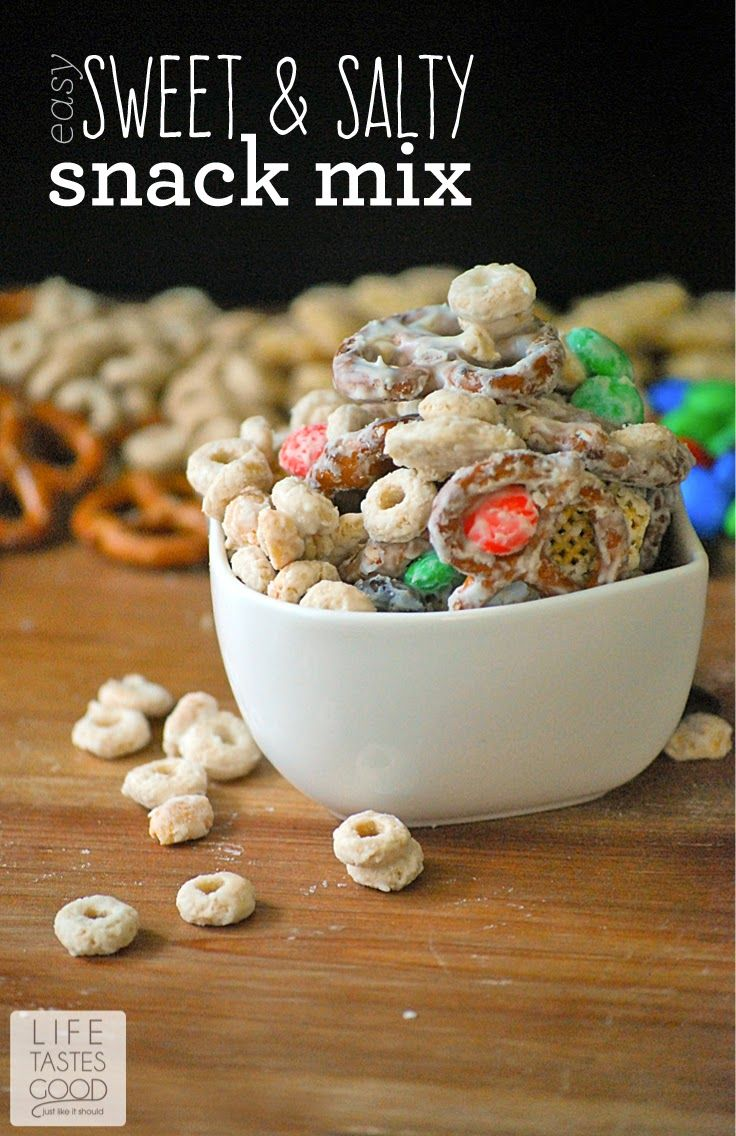 Easy Sweet And Salty Snack Mix With M Amp M S Shops Cards