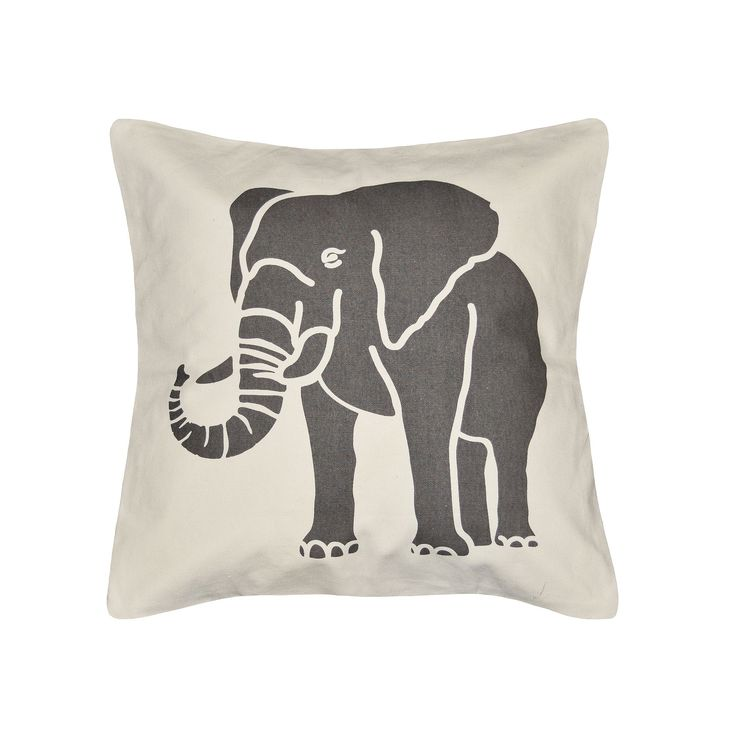 Spencer Home Decor Elephant Throw Pillow, Grey