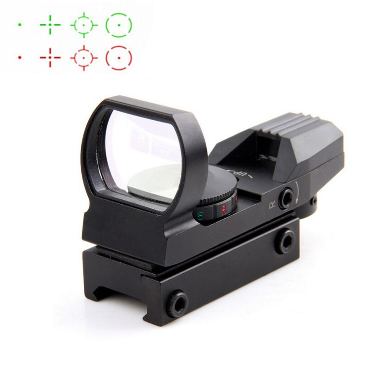 Hot 20mm Rail Riflescope Hunting Optics Holographic Red Dot Sight Reflex 4 Reticle Tactical Scope Hunting Gun Accessories #Affiliate