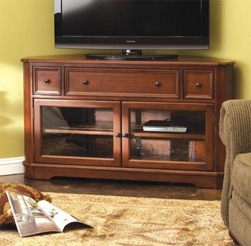 Family Room - Media Storage - Corner Media Console