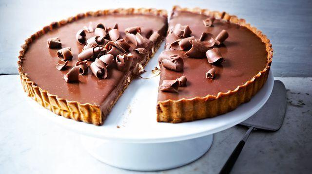 Recette de la tarte au chocolat au lait, de Pierre Hermé.