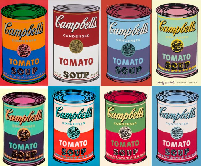 Andy+Warhol+Soup+Can+Paintings+|+Andy+Warhol+and+his+muse:+The+Campbell+Soup+Can