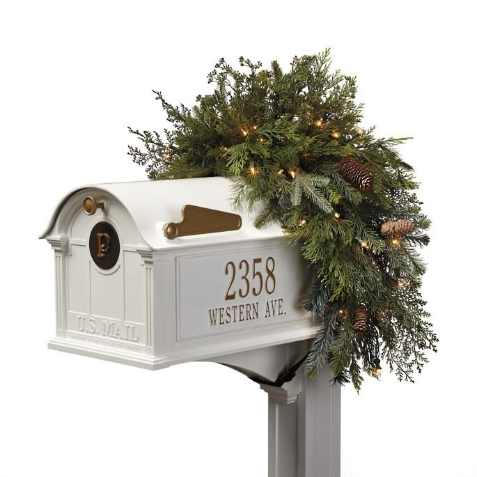 Blue Ridge Mountain Mailbox Swag Mailbox Decor Outdoor