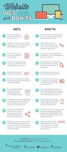 Are you doing these things with your website? ~20 website dos and don'ts www.socialmediamamma.com?utm_content=buffer6b685&utm_medium=social&utm_source=pinterest&utm_campaign=buffer #Business #infographic