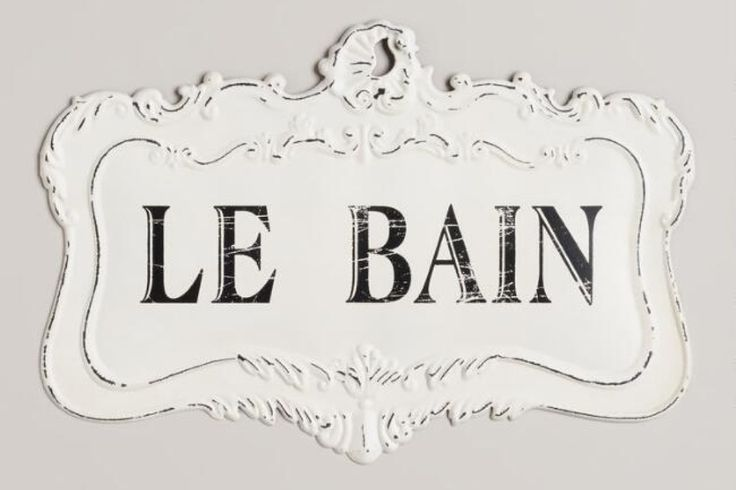 "Ever get tired of telling guests where the bathroom is? With this cute and classy bathroom decor sign, as long as your company can figure out that ""Le Bain"" means ""the bath"" in French, you're good! Oui oui! (or should it be wee wee?) 😂"