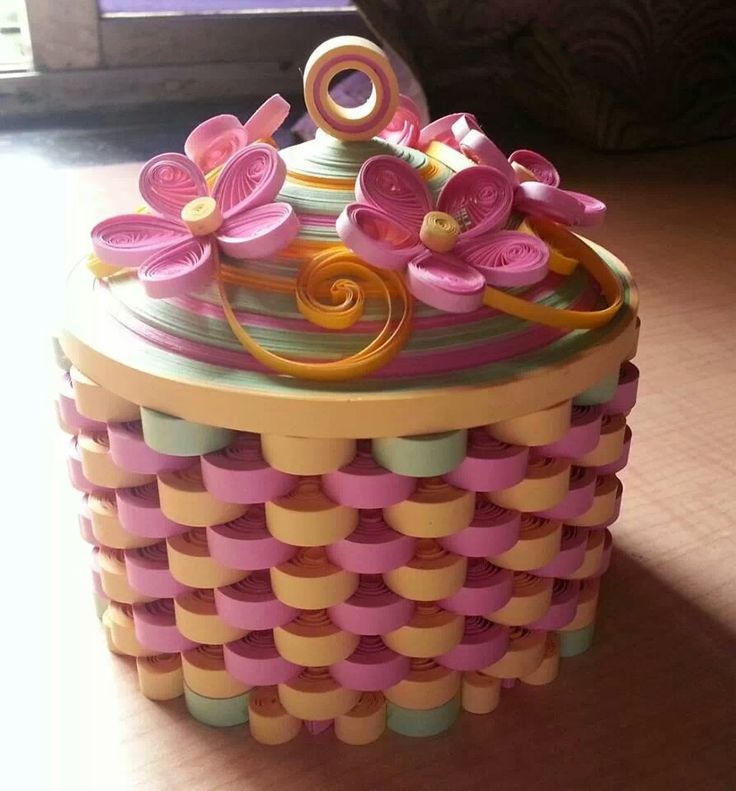 How To Make A Quilling Flower Basket : Best images about d quilling on