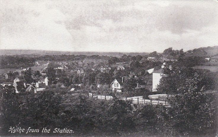 View of Hythe, Kent from the railway station, c.1919