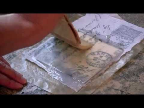 ▶ Encaustic Technique 3 - Embedded Tissue - YouTube