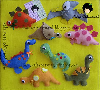 felt animals. it is a good idea to make kinds toy