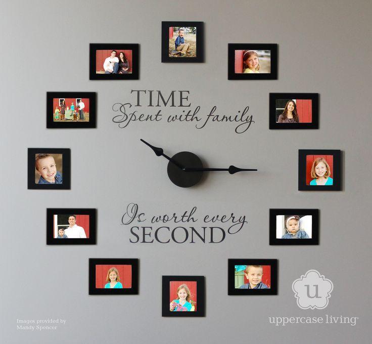 Family Photo Wall Vinyl Custom Clock