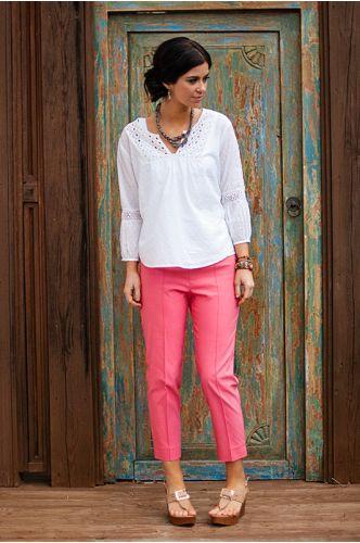 Summer Slim Crop Pant | coral crop pants | shopgofish.com