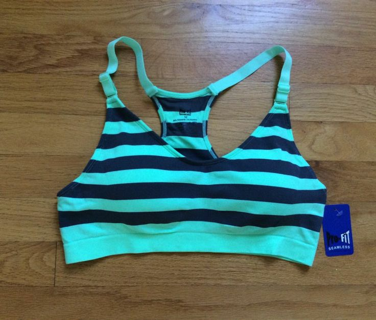Details about Pro-fit Striped Sports Bra | Sports, Sport bras and Fit