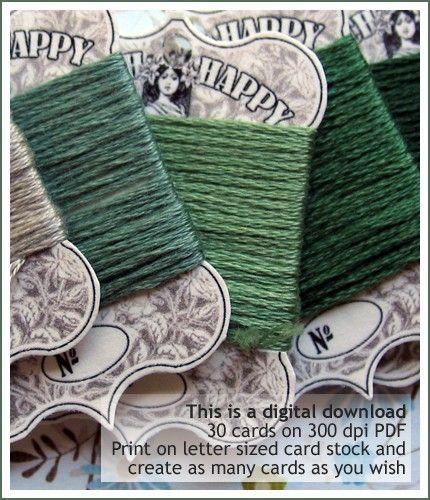 Floss bobbins: Art Nouveau, Embroidery Cards, Cards 4 50, Happy Fancy, Cross Stitch, Cards Door, Nouveau Stitch
