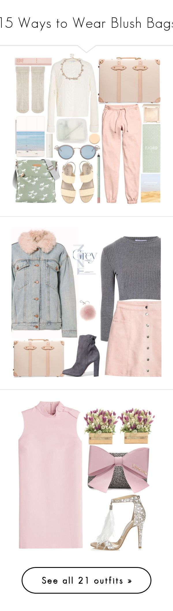 """15 Ways to Wear Blush Bags"" by polyvore-editorial ❤ liked on Polyvore featuring waystowear, blushbags, Brakeburn, Walnut Melbourne, Skandinavisk, Casetify, Carven, Muji, H&M and Thom Browne"
