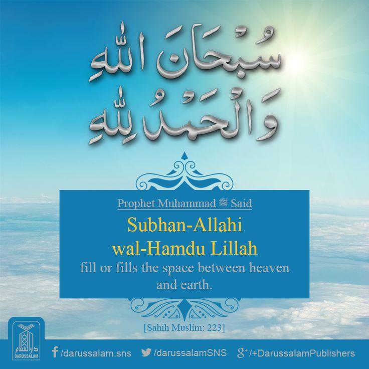Daily Hadith | Excellence of SubhanAllah Wal-Hamdulillah [Sahih Muslim, Book of Purification, Hadith: 223] Chapter: The virtue of wudu.   #Hadith #Dhikr
