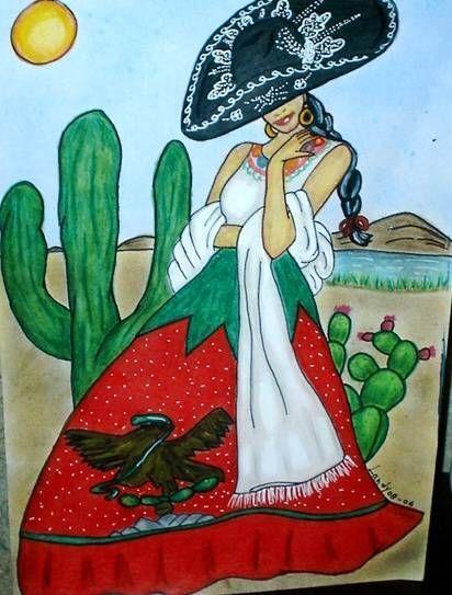 La China Poblana es de Puebla. Es una princesa India que fue vendida en Las Filipinas y comprada por un capitan mexicanol.Afortunadamente, en Manila un buen hombre, el capitán de un barco español que iba con mercancías a Acapulco, compró a la princesa.  Y como era el día de Santa Catalina, le dio el nombre de Catalina a la muchacha.